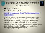 examples 0f innovation from the public sector8