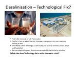 desalinisation technological fix
