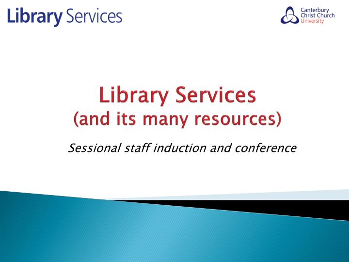 library services and its many resources n.