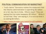 political communication or marketing