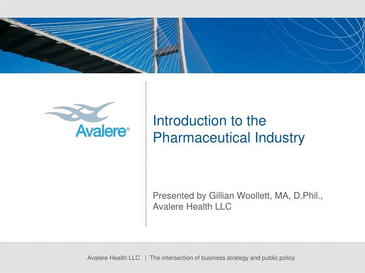 introduction to the pharmaceutical industry n.