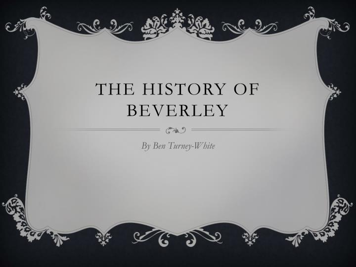 the history of beverley n.