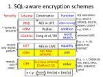 1 sql aware e ncryption schemes