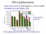 tpc c performance
