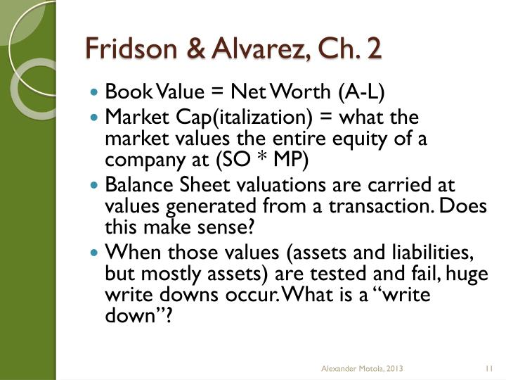 Fridson & Alvarez,