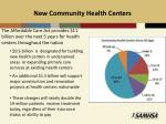new community health centers