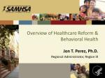 overview of healthcare reform behavioral health