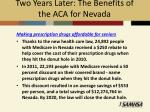 two years later the benefits of the aca for nevada2