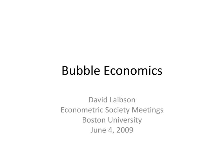 bubble economics n.