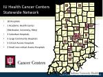 iu health cancer centers statewide network