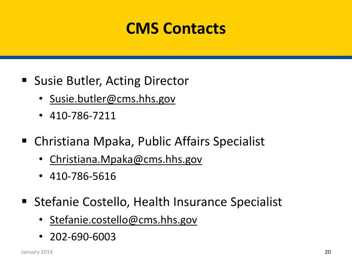 CMS Contacts