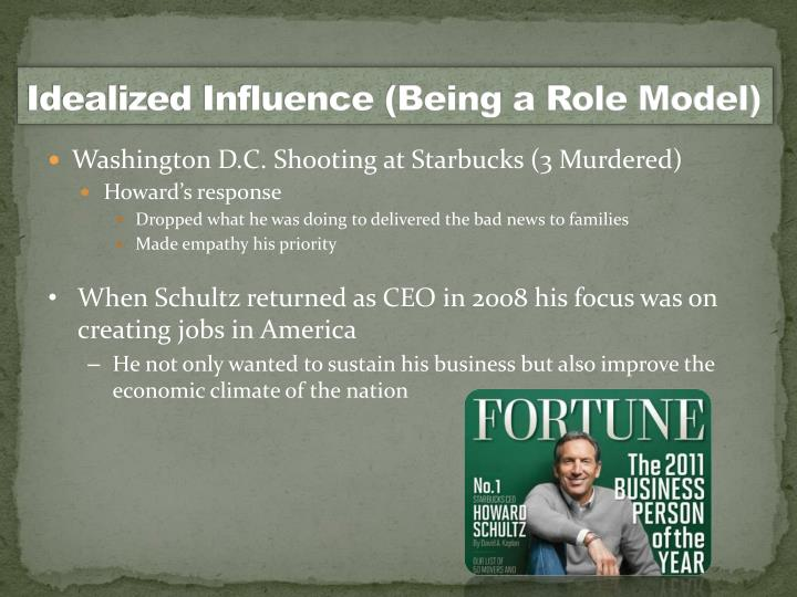 Idealized influence being a role model