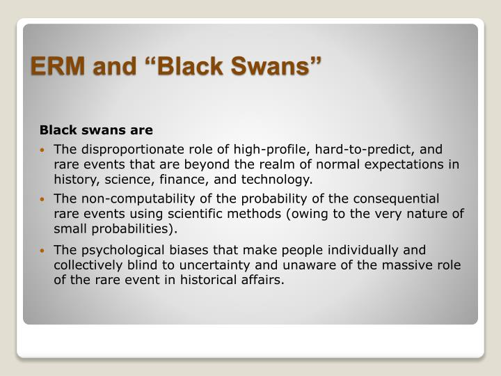 Black swans are