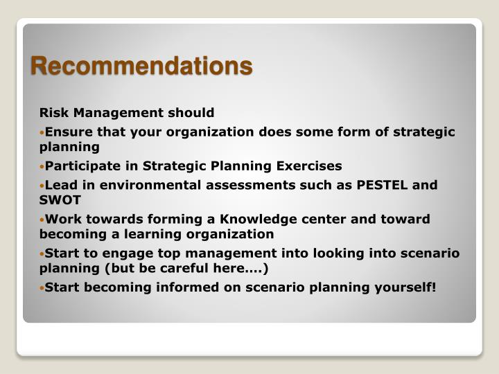Risk Management should