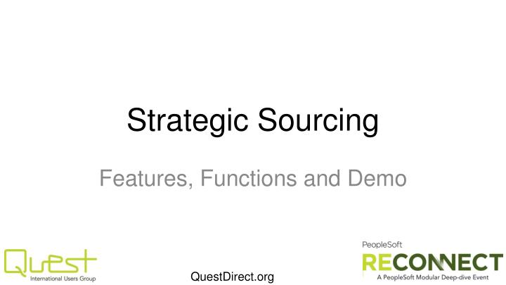 strategic sourcing n.