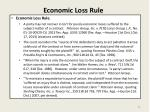 economic loss rule