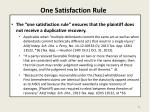 one satisfaction rule