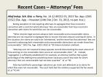 recent cases attorneys fees