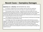 recent cases exemplary damages