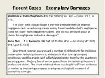 recent cases exemplary damages1