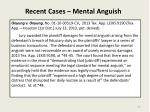 recent cases mental anguish