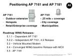 positioning ap 7161 and ap 7181
