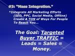 3 mass integration