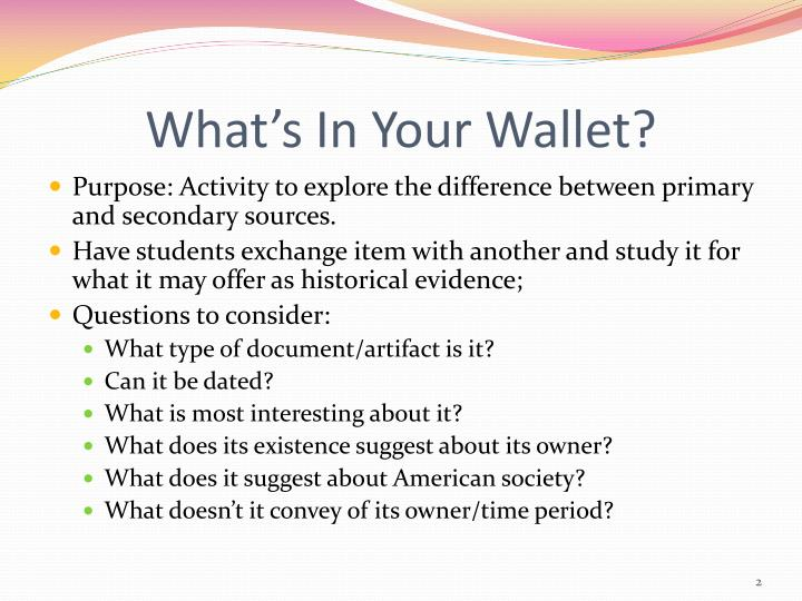 What s in your wallet