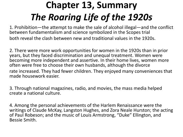 Chapter 13, Summary