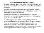 jefferson responds with an embargo