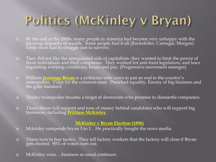 Politics (McKinley v Bryan)