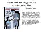 drums girls and dangerous pie by jordan sonnenblick