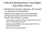 if we are bowling alone how might that affect politics