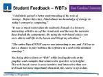 student feedback wbts