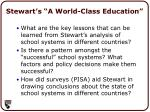 stewart s a world class education
