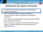 additional sci space activities