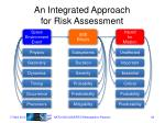 an integrated approach for risk assessment