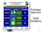 prototype web gui quiet conditions