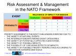 risk assessment management in the nato framework