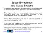 space environment and space systems1