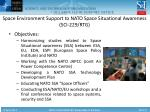 space environment support to nato space situational awareness sci 229 rtg