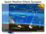 space weather effects synopsis