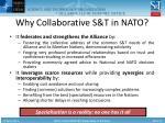 why collaborative s t in nato