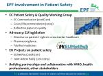 epf involvement in patient safety