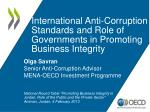 international anti corruption standards and role of governments in promoting business integrity