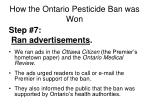 how the ontario pesticide ban was won5