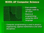 m359 ap computer science