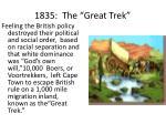 1835 the great trek