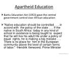 apartheid education