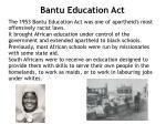 bantu education act